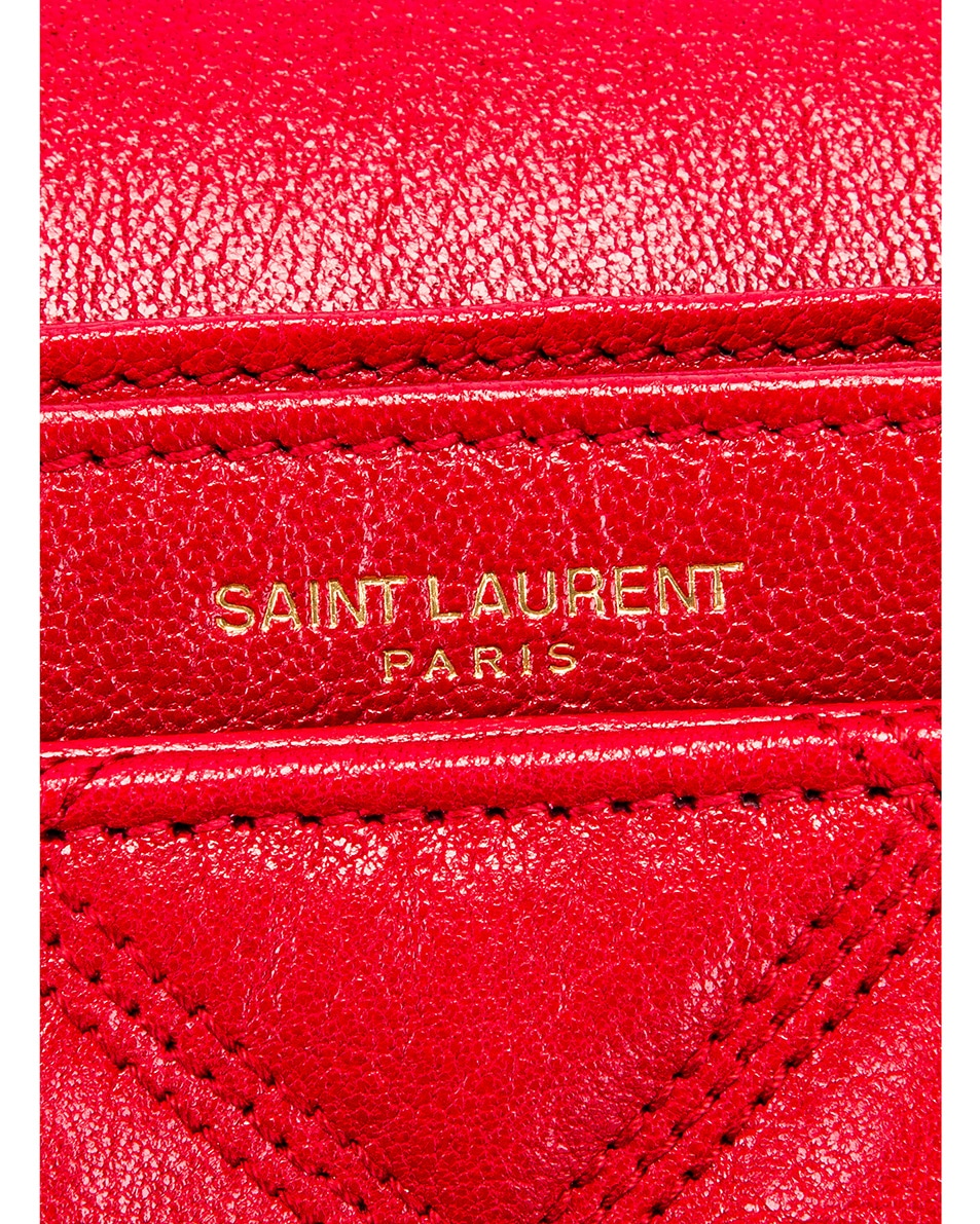 Image 7 of Saint Laurent Small Becky Bag in Rouge Eros