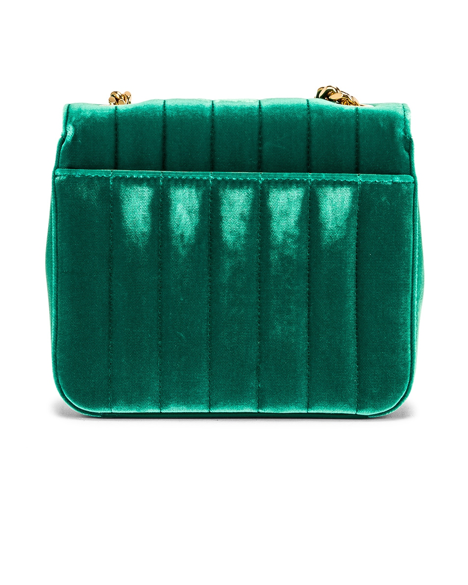 Image 3 of Saint Laurent Small Vicky Chain Bag in Deep Malachite