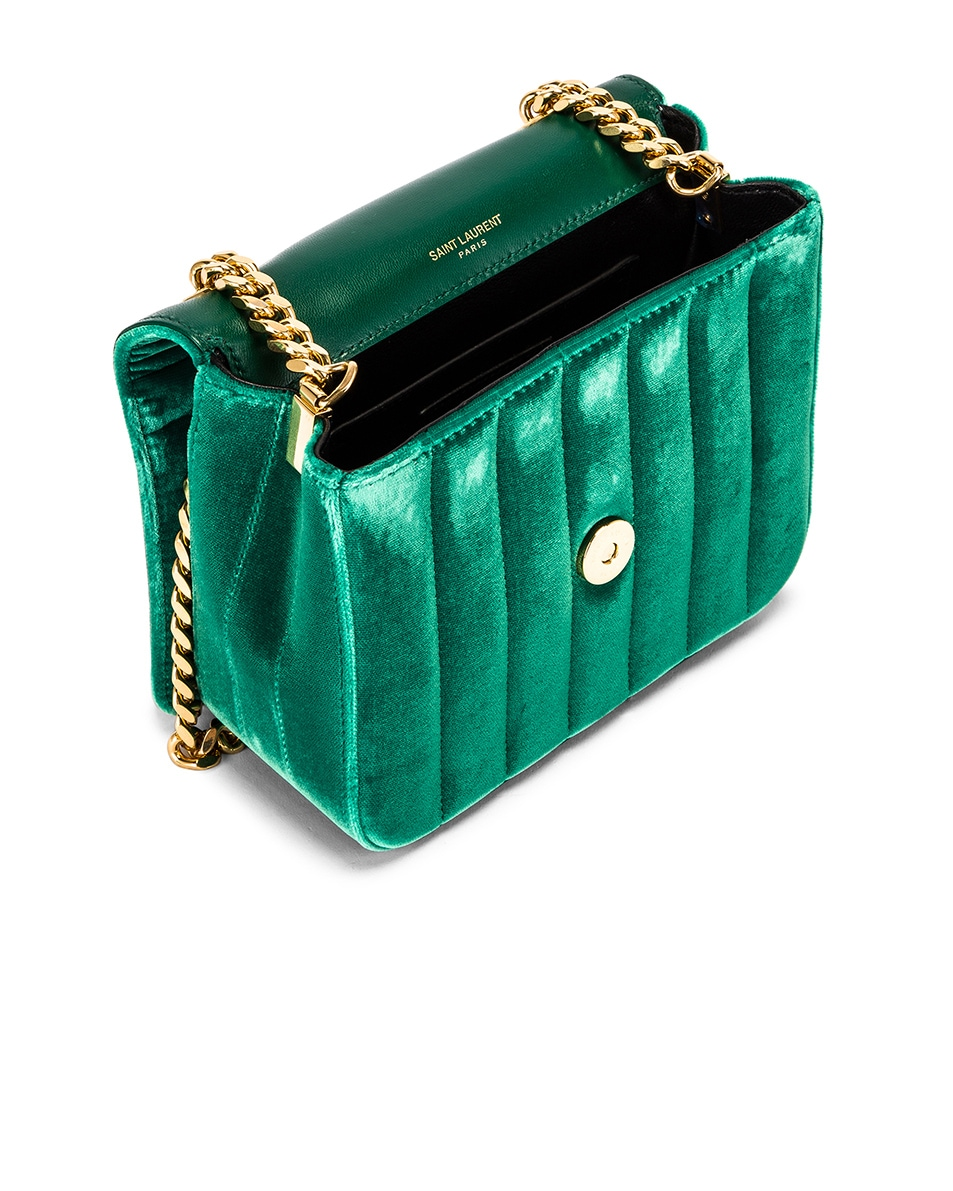 Image 5 of Saint Laurent Small Vicky Chain Bag in Deep Malachite