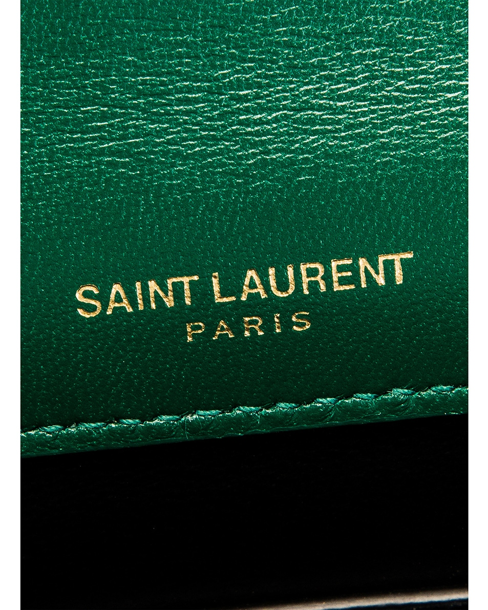 Image 7 of Saint Laurent Small Vicky Chain Bag in Deep Malachite