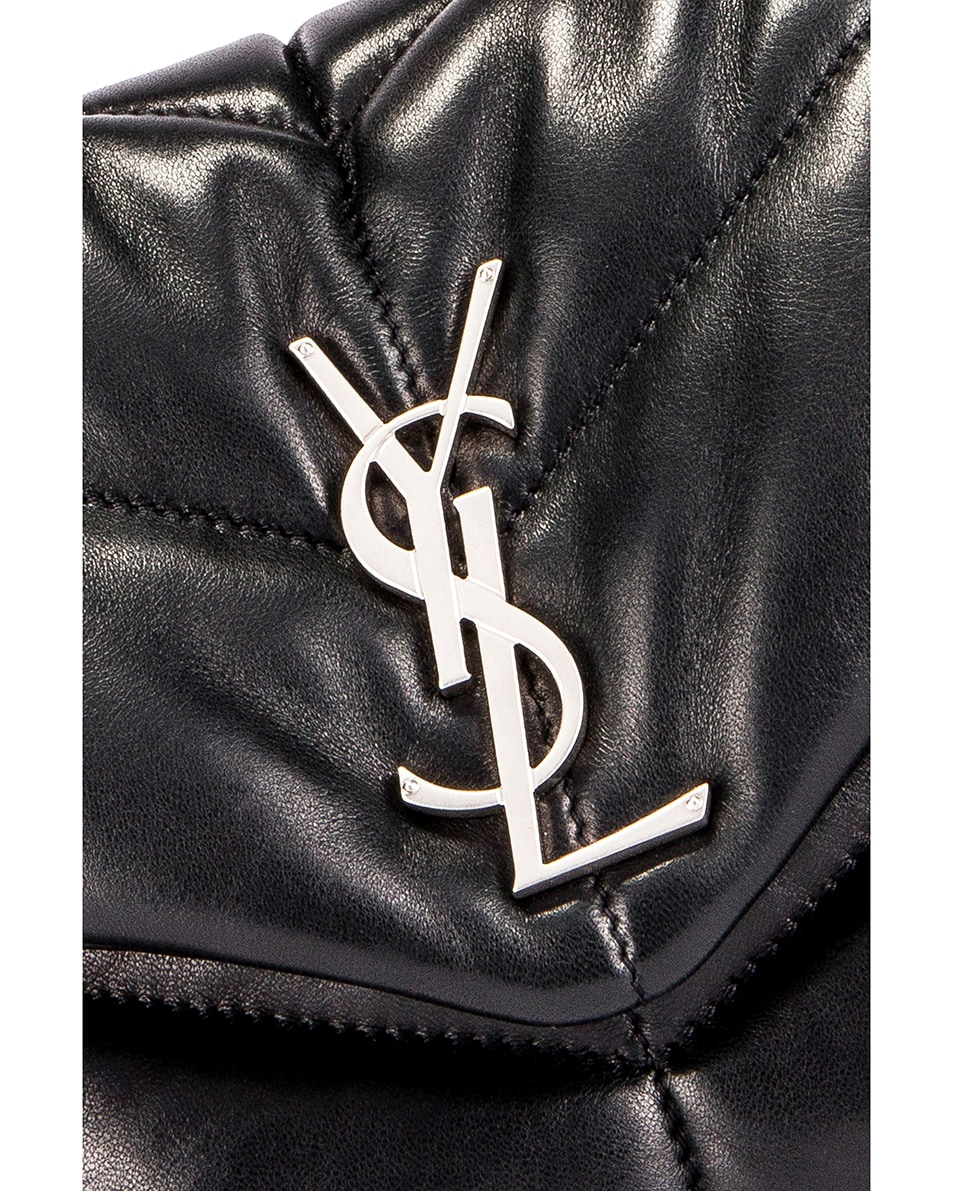 Image 2 of Saint Laurent Small Loulou Puffer Chain Bag in Black