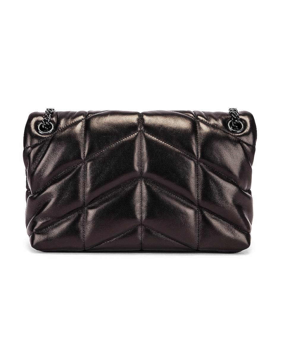 Image 3 of Saint Laurent Small Loulou Puffer Chain Bag in Black
