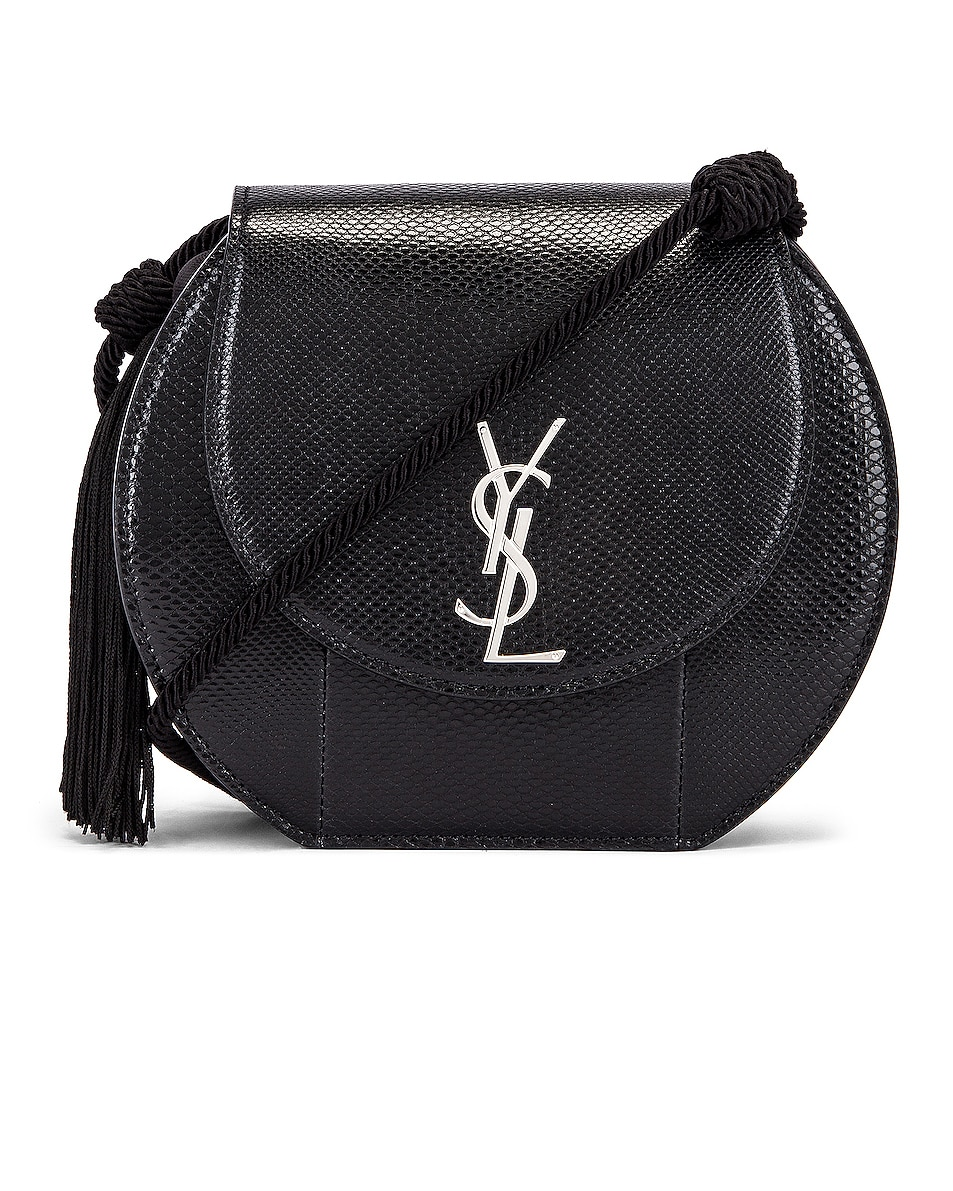 Image 1 of Saint Laurent Demi Lune Minaudiere Bag in Black