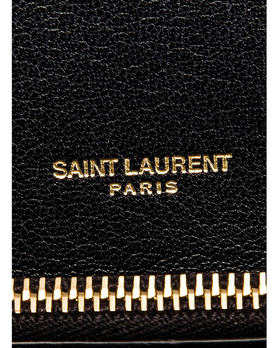 Image 7 of Saint Laurent Large Monogramme College Bag in Black