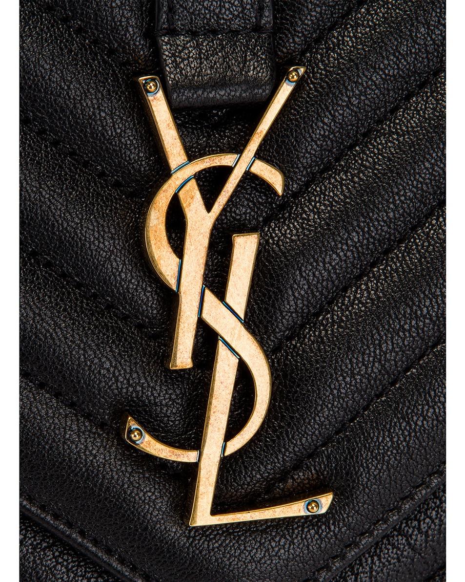 Image 8 of Saint Laurent Large Monogramme College Bag in Black