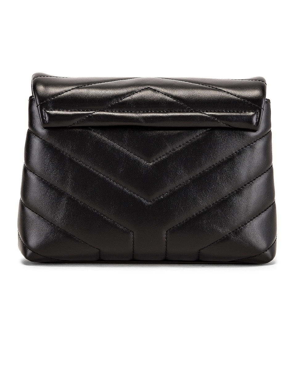Image 3 of Saint Laurent Toy Supple Monogramme Loulou Strap Bag in Black