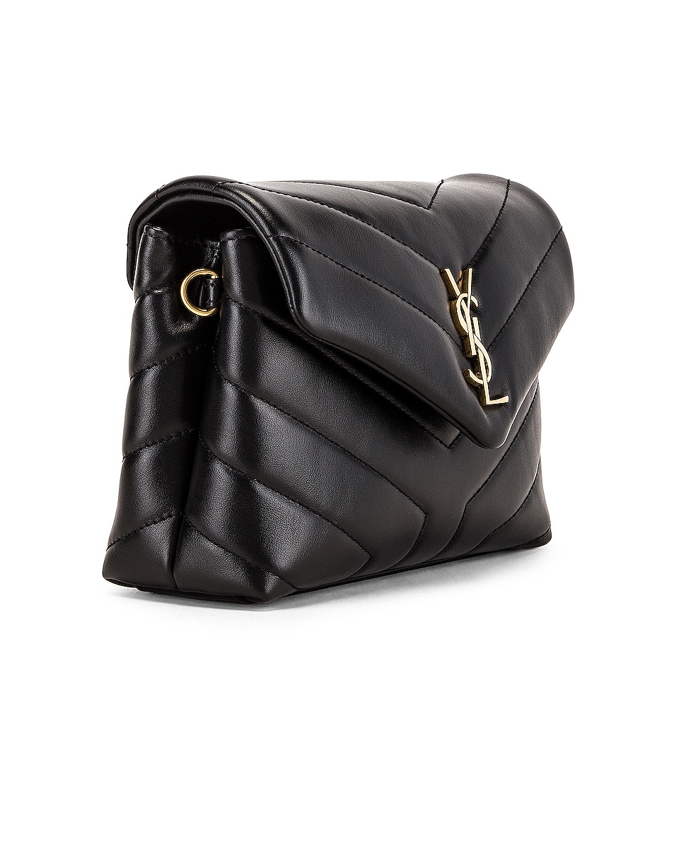 Image 4 of Saint Laurent Toy Supple Monogramme Loulou Strap Bag in Black