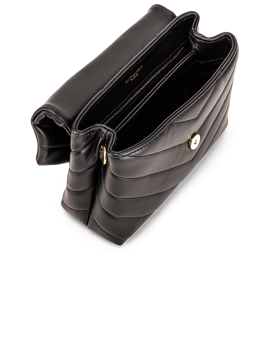 Image 5 of Saint Laurent Toy Supple Monogramme Loulou Strap Bag in Black