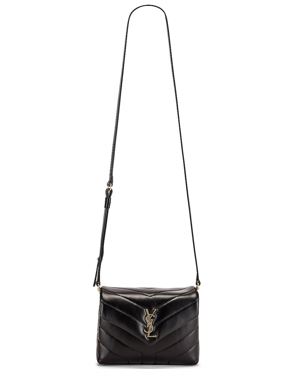 Image 6 of Saint Laurent Toy Supple Monogramme Loulou Strap Bag in Black