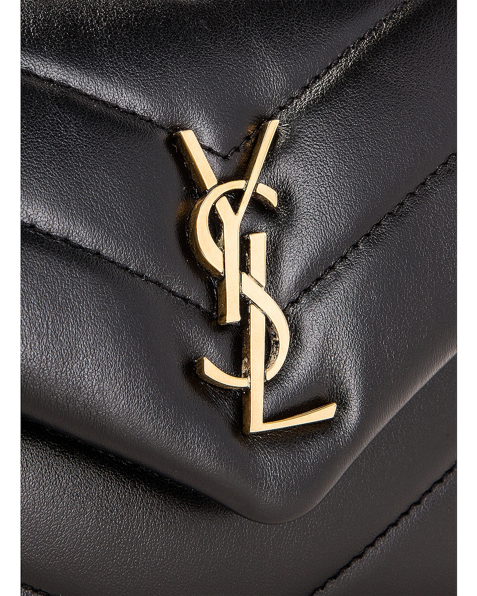 Image 8 of Saint Laurent Toy Supple Monogramme Loulou Strap Bag in Black