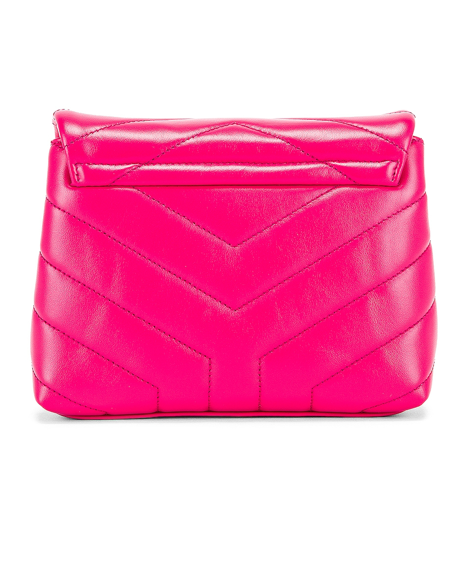 Image 2 of Saint Laurent Toy Supple Monogramme Loulou Strap Bag in Fresh Fuchsia