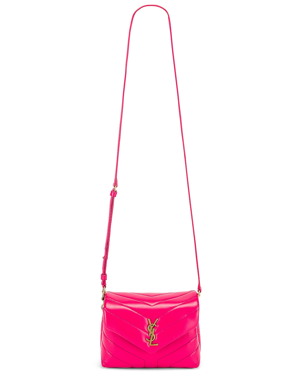 Image 5 of Saint Laurent Toy Supple Monogramme Loulou Strap Bag in Fresh Fuchsia