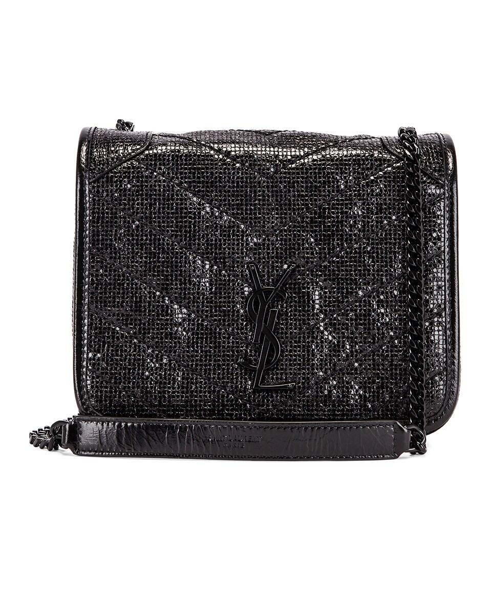 Image 1 of Saint Laurent Niki Chain Wallet Bag in Black & Black