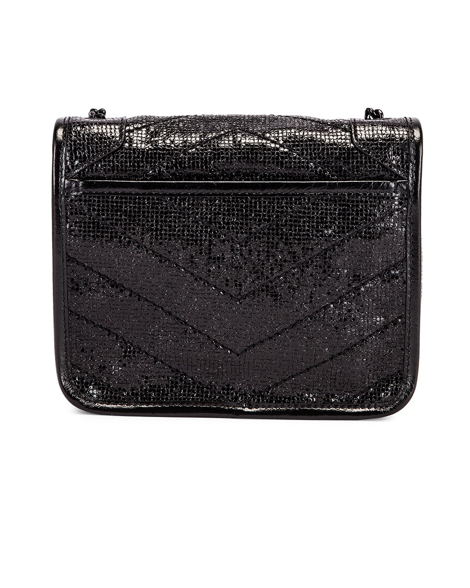 Image 3 of Saint Laurent Niki Chain Wallet Bag in Black & Black
