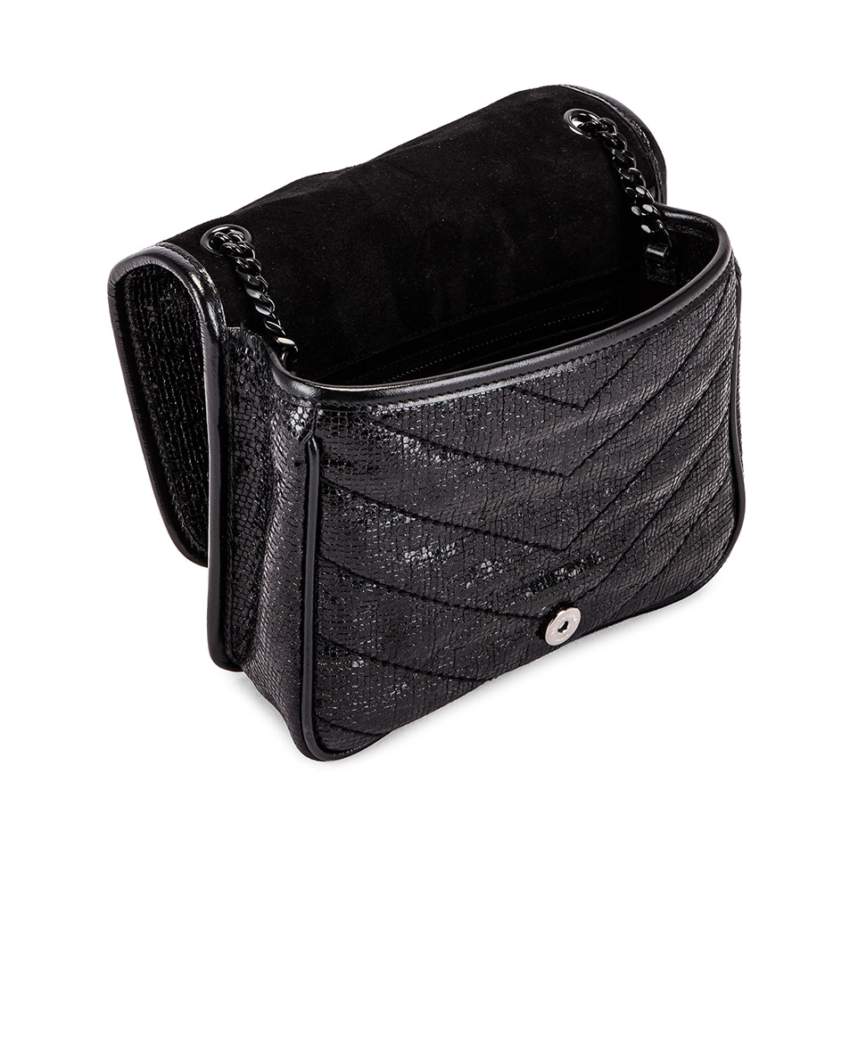 Image 5 of Saint Laurent Niki Chain Wallet Bag in Black & Black