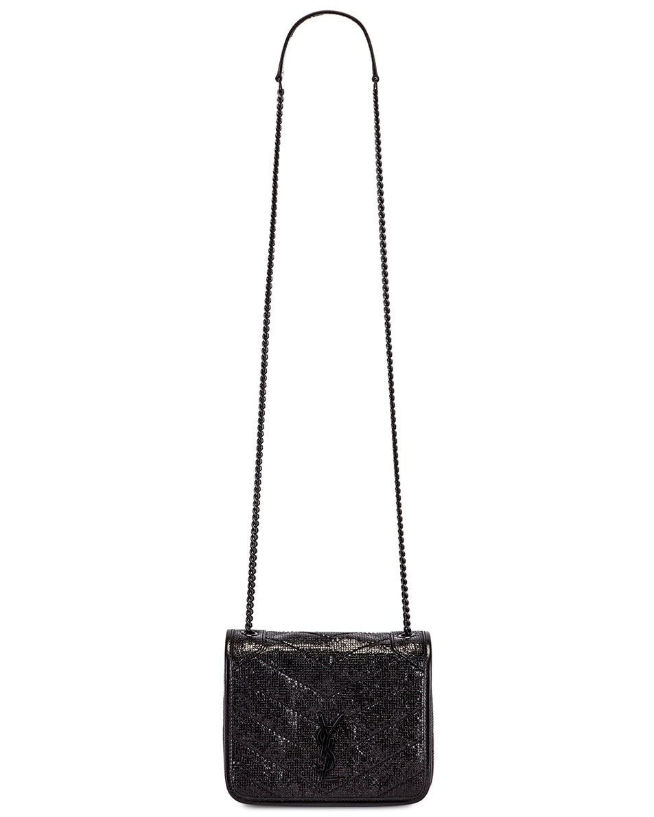 Image 6 of Saint Laurent Niki Chain Wallet Bag in Black & Black