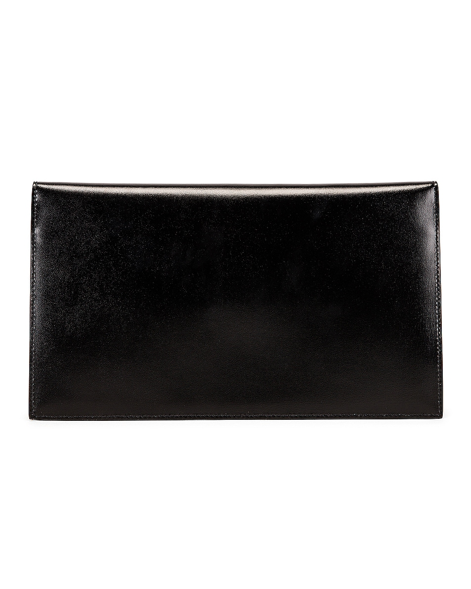 Image 2 of Saint Laurent Uptown Monogramme Medium Envelope Pouch in Black