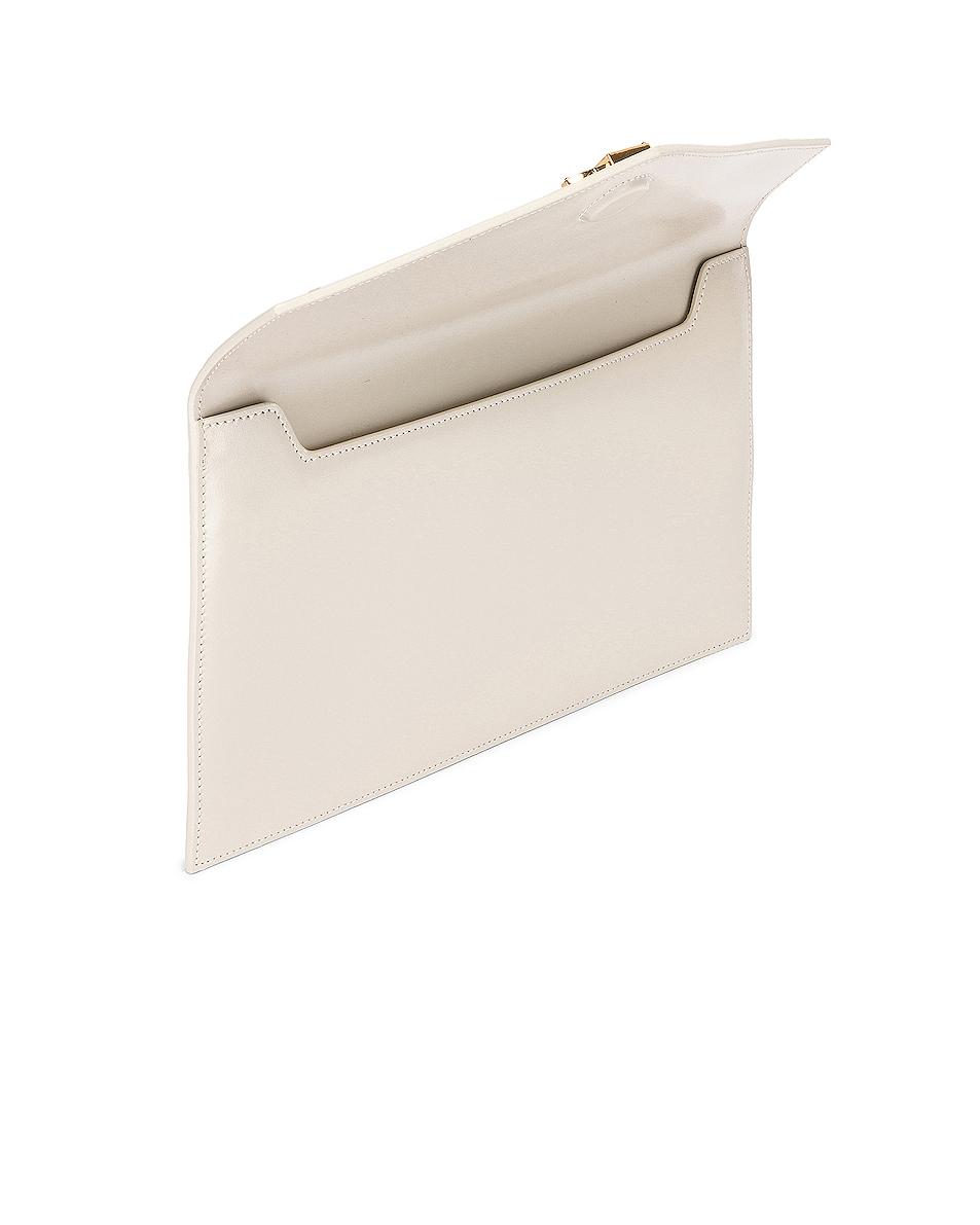 Image 5 of Saint Laurent Uptown Monogramme Medium Envelope Pouch in Crema Soft