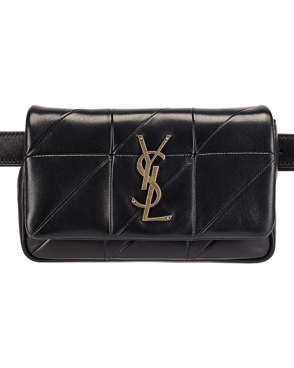 Image 1 of Saint Laurent Jamie Leather Belt Bag in Black