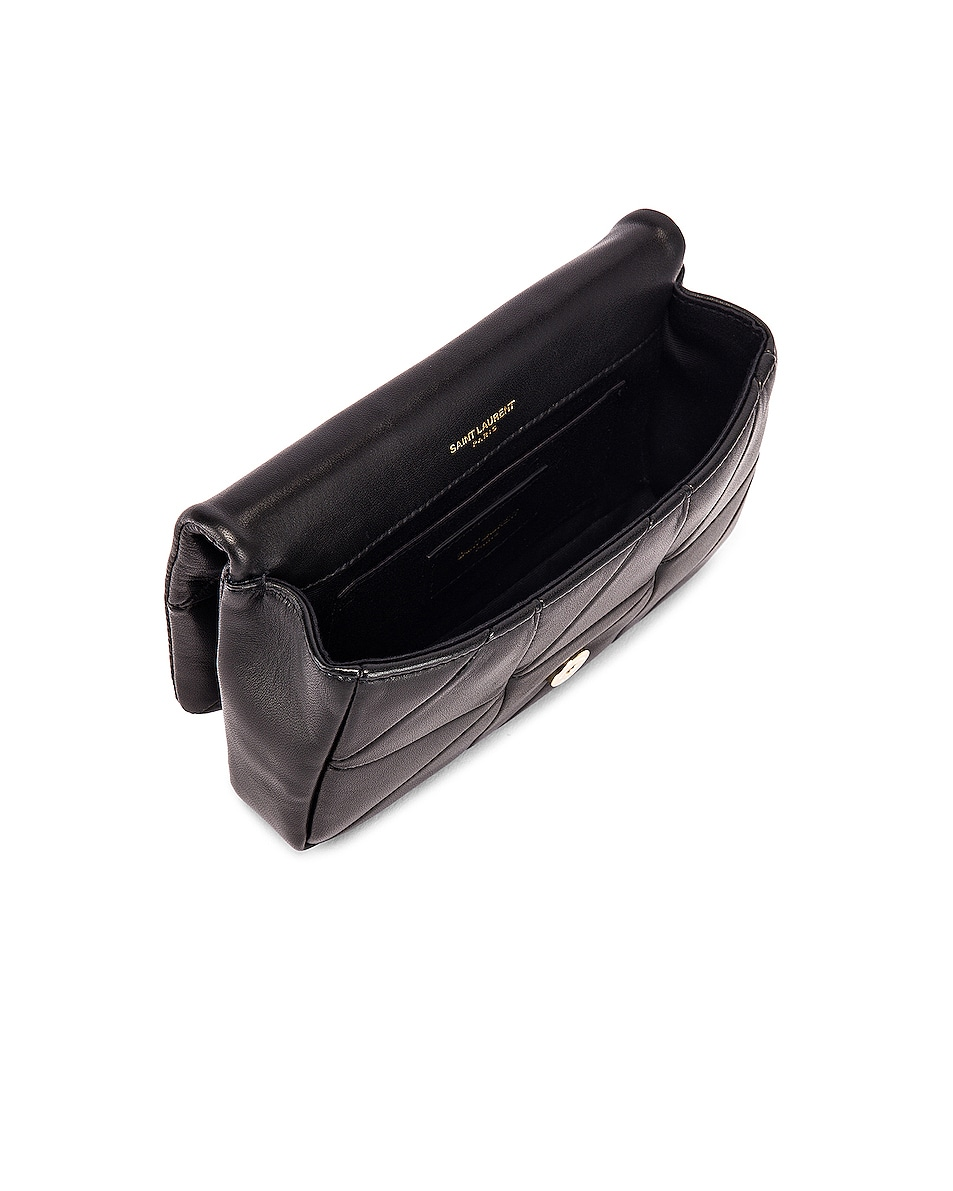 Image 5 of Saint Laurent Jamie Leather Belt Bag in Black