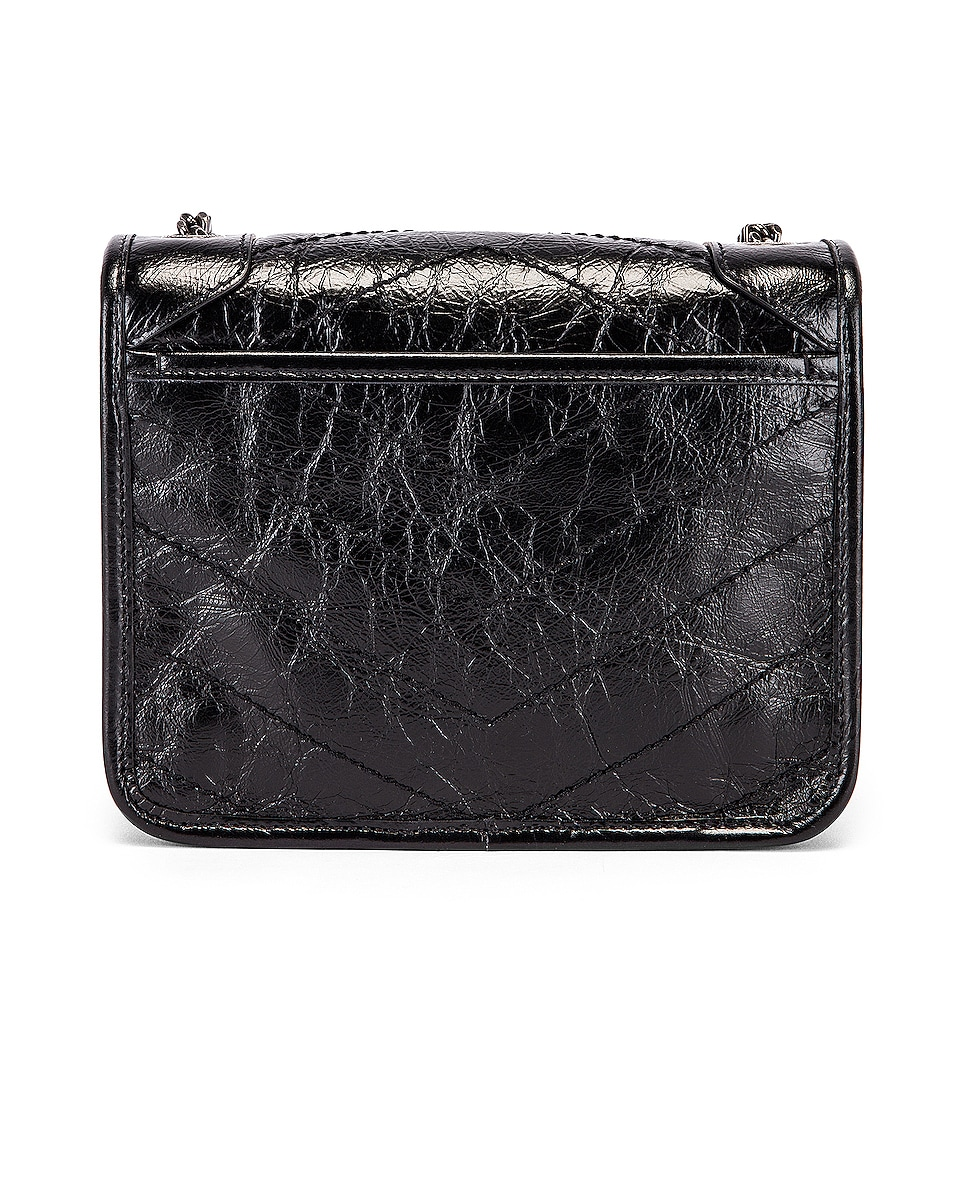 Image 3 of Saint Laurent Niki Wallet Chain Bag in Black