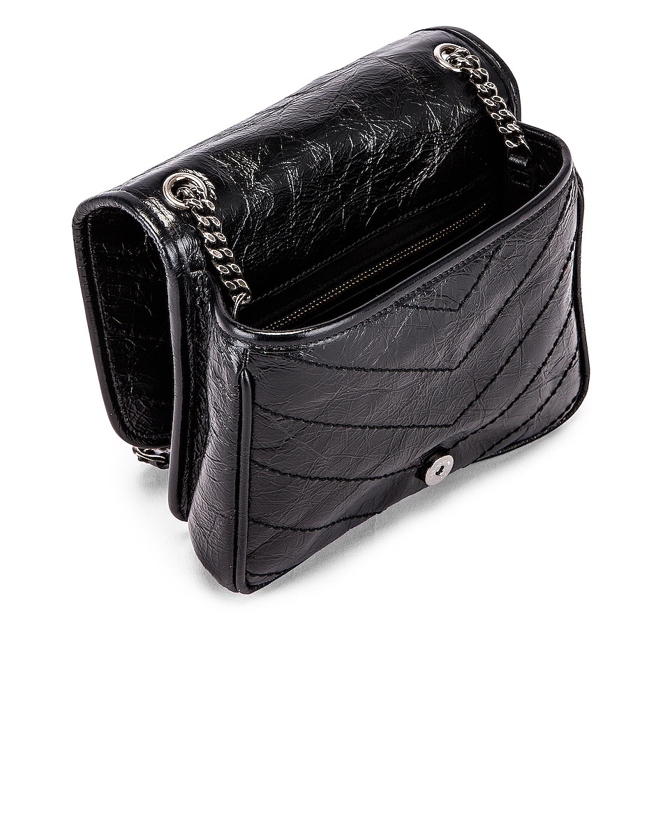 Image 4 of Saint Laurent Niki Wallet Chain Bag in Black