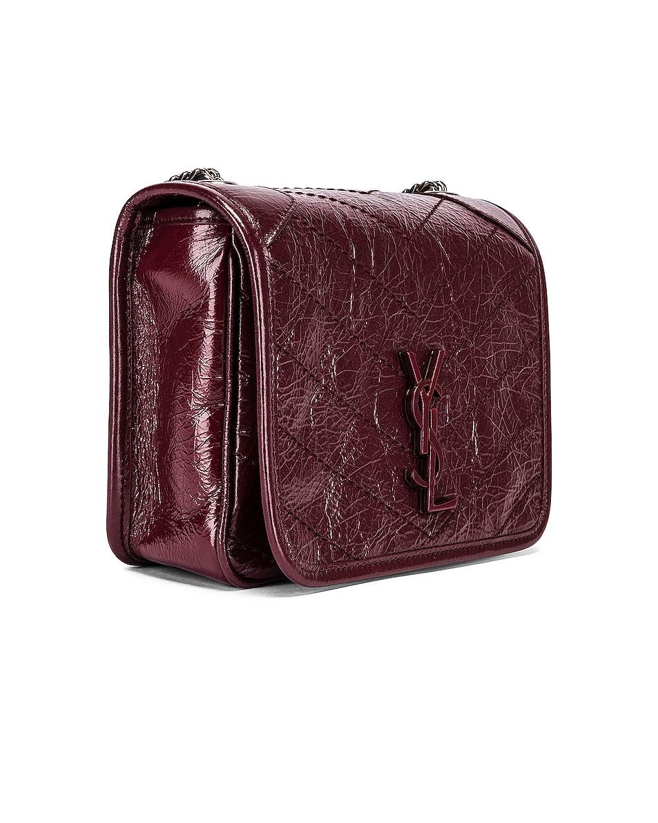 Image 3 of Saint Laurent Niki Wallet Chain Bag in Rouge Legion