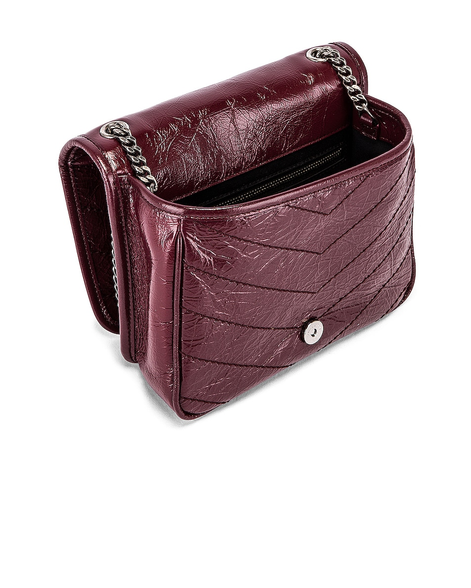 Image 4 of Saint Laurent Niki Wallet Chain Bag in Rouge Legion