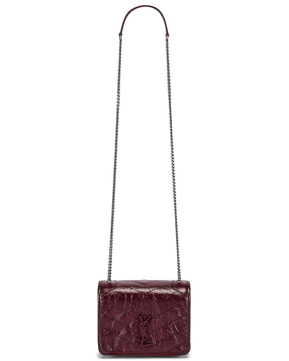 Image 5 of Saint Laurent Niki Wallet Chain Bag in Rouge Legion