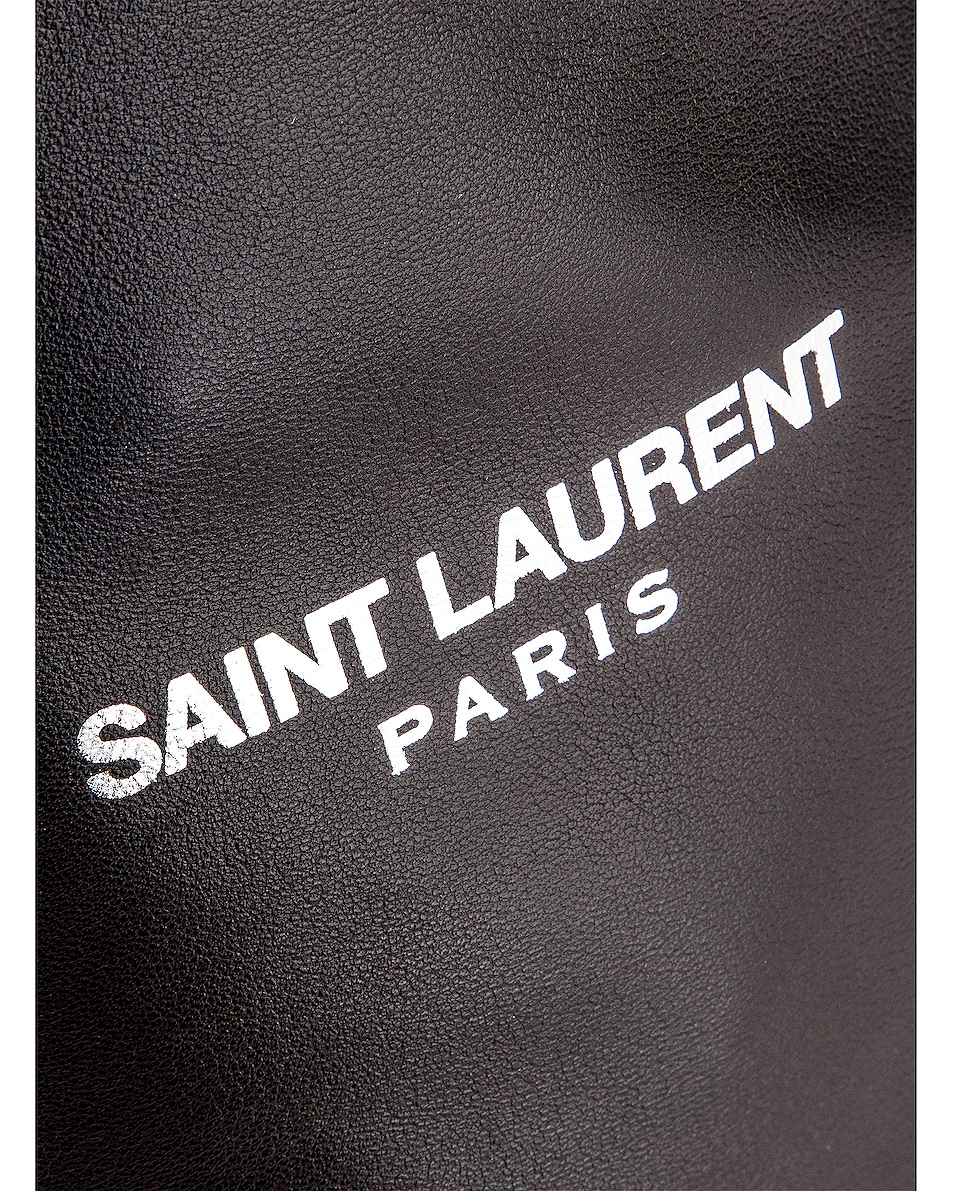 Image 7 of Saint Laurent Teddy Pouch Chain Bag in Black