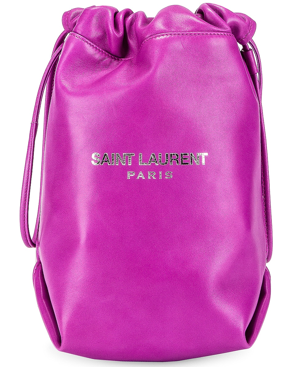 Image 1 of Saint Laurent Teddy Pouch Chain Bag in New Fuchsia