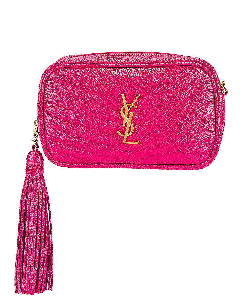 Image 1 of Saint Laurent Mini Lou Monogramme Bag in Fresh Fuchsia
