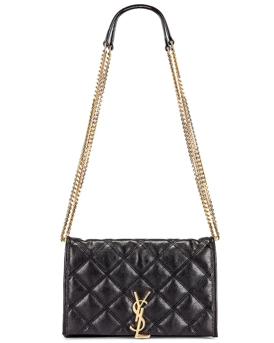 Image 1 of Saint Laurent Chain Wallet Bag in Black