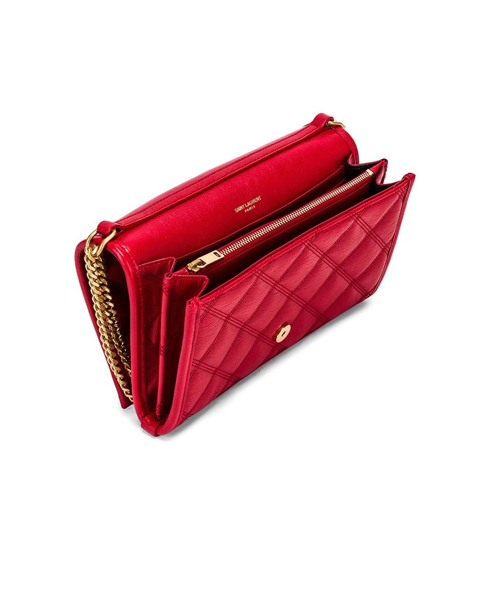 Image 5 of Saint Laurent Chain Wallet Bag in Rouge Eros