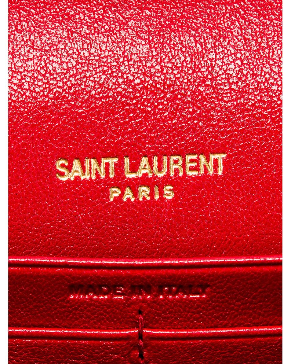 Image 7 of Saint Laurent Chain Wallet Bag in Rouge Eros