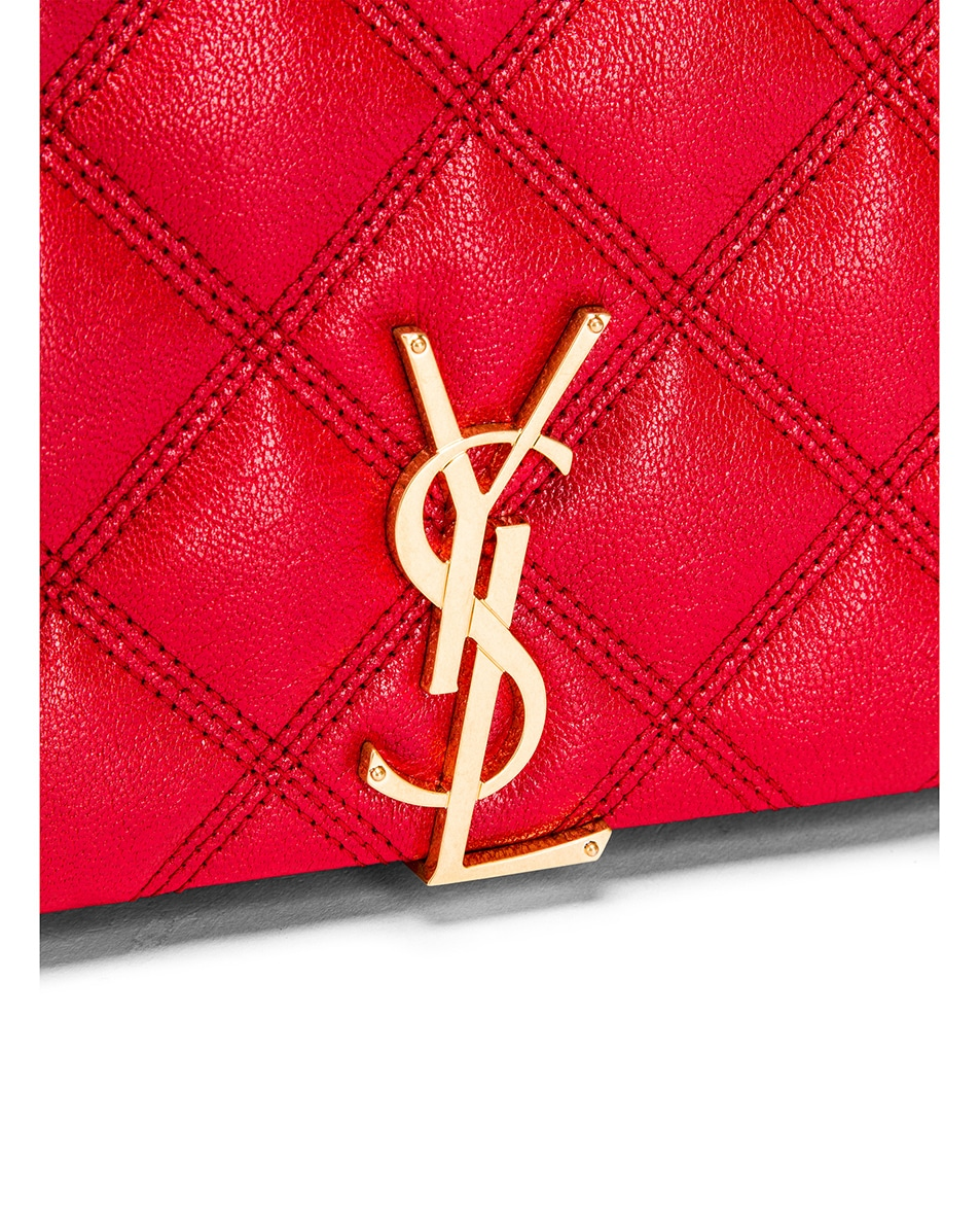 Image 8 of Saint Laurent Chain Wallet Bag in Rouge Eros