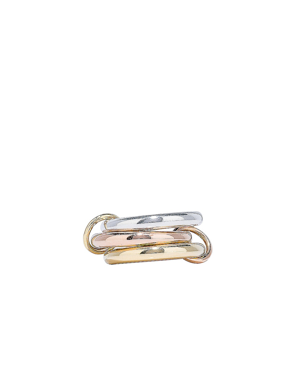Image 1 of Spinelli Kilcollin Mercury Ring in Sterling Silver, 18K Rose Gold, and 18K Yellow Gold