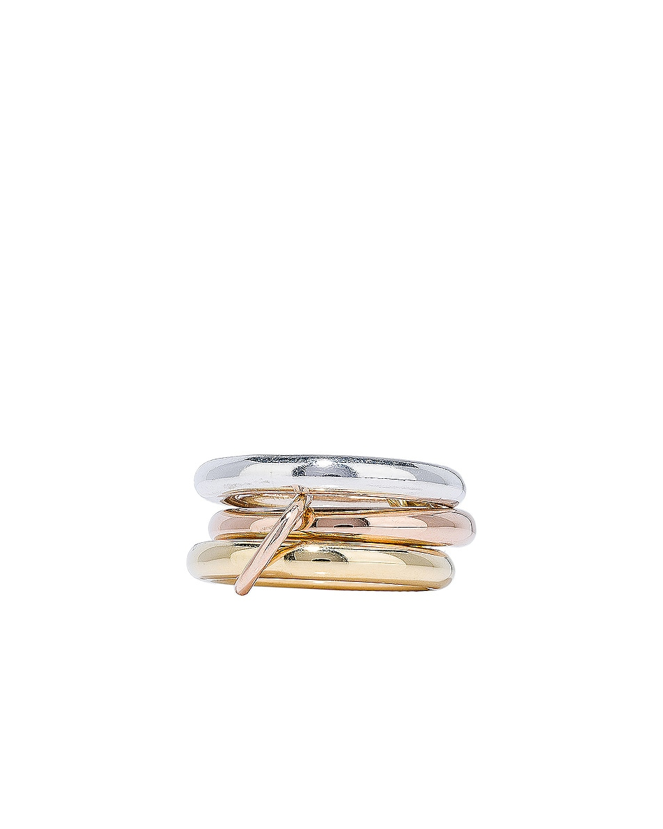 Image 2 of Spinelli Kilcollin Mercury Ring in Sterling Silver, 18K Rose Gold, and 18K Yellow Gold