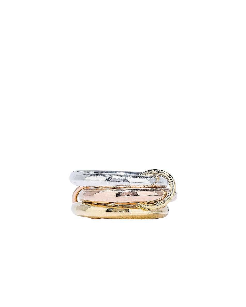Image 3 of Spinelli Kilcollin Mercury Ring in Sterling Silver, 18K Rose Gold, and 18K Yellow Gold