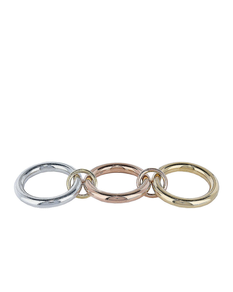 Image 4 of Spinelli Kilcollin Mercury Ring in Sterling Silver, 18K Rose Gold, and 18K Yellow Gold