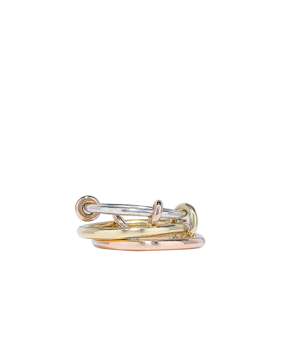 Image 1 of Spinelli Kilcollin Raneth MX Ring in Sterling Silver, 18K Rose Gold, and 18K Yellow Gold