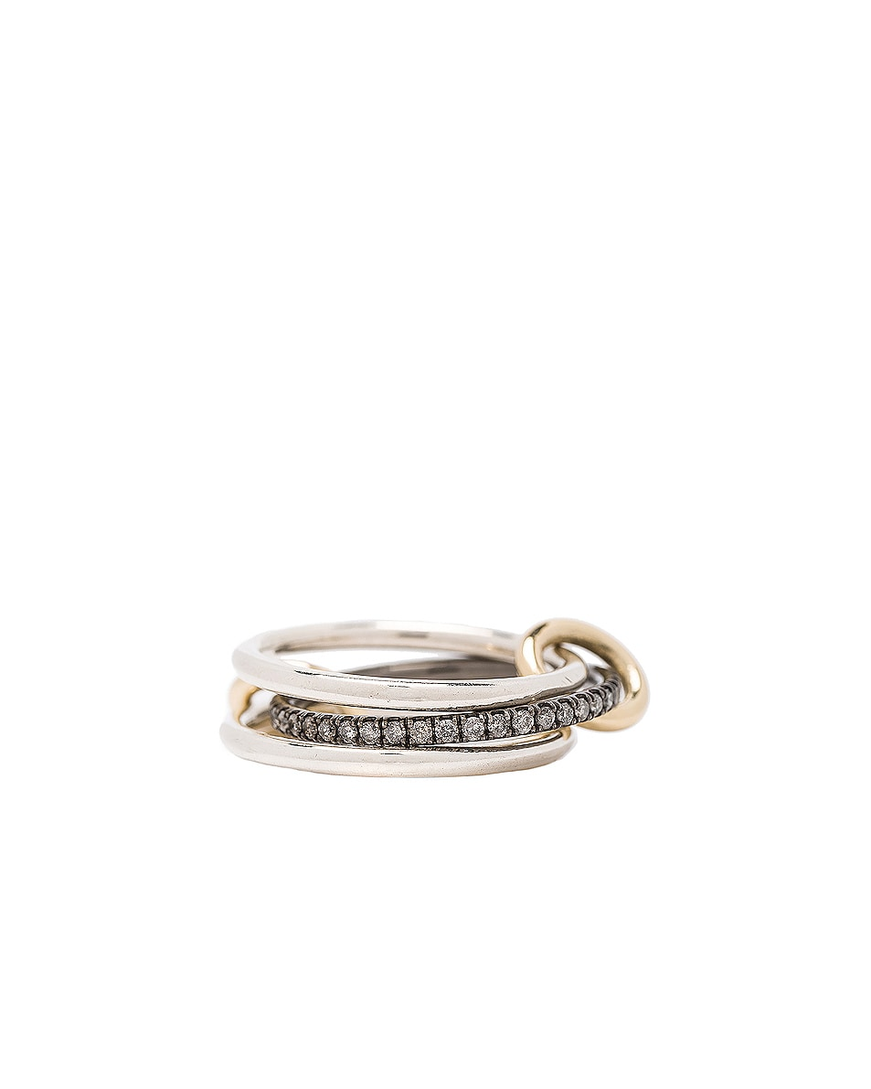 Image 4 of Spinelli Kilcollin Raneth Gris Ring in Silver & Yellow Gold