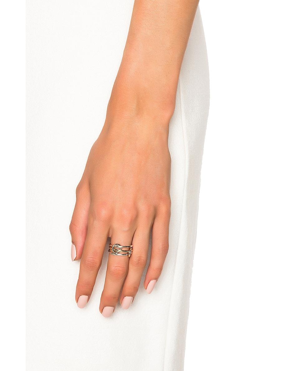Image 2 of Spinelli Kilcollin Solarium Silver Ring in 18K Yellow Gold