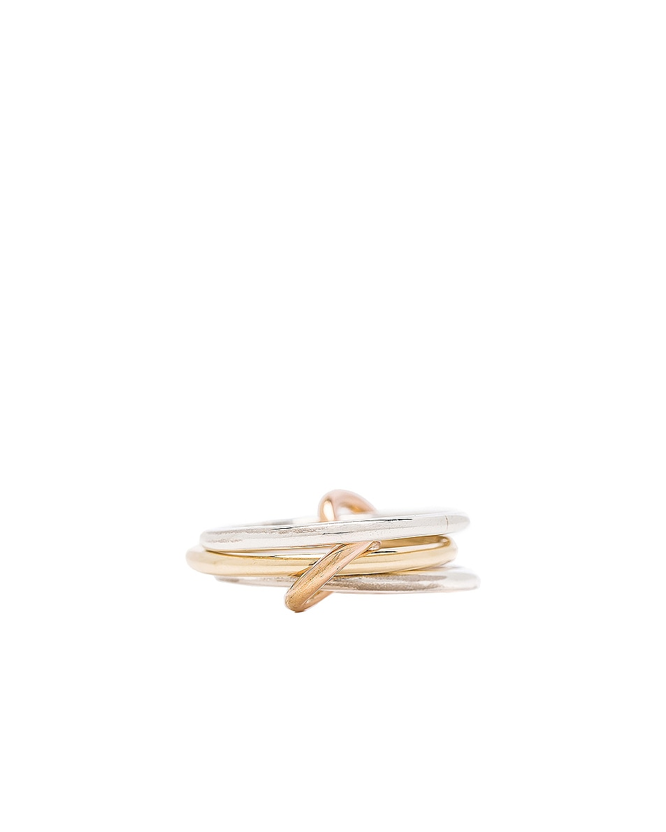 Image 3 of Spinelli Kilcollin Solarium Silver Ring in 18K Yellow Gold