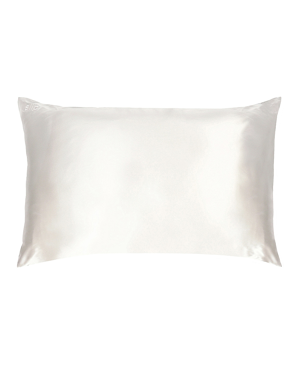 Image 1 of slip King Pure Silk Pillowcase in White