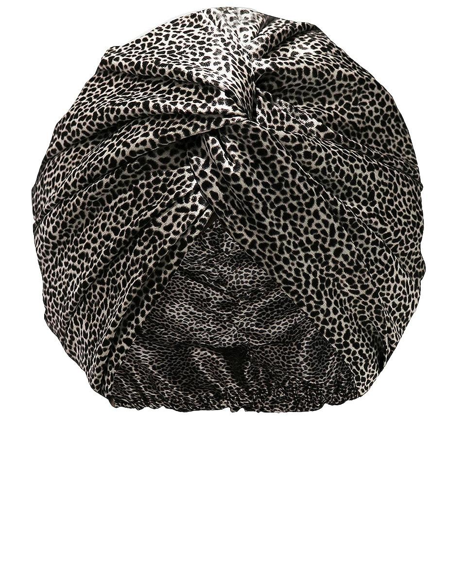 Image 1 of slip Pure Silk Turban in Leopard