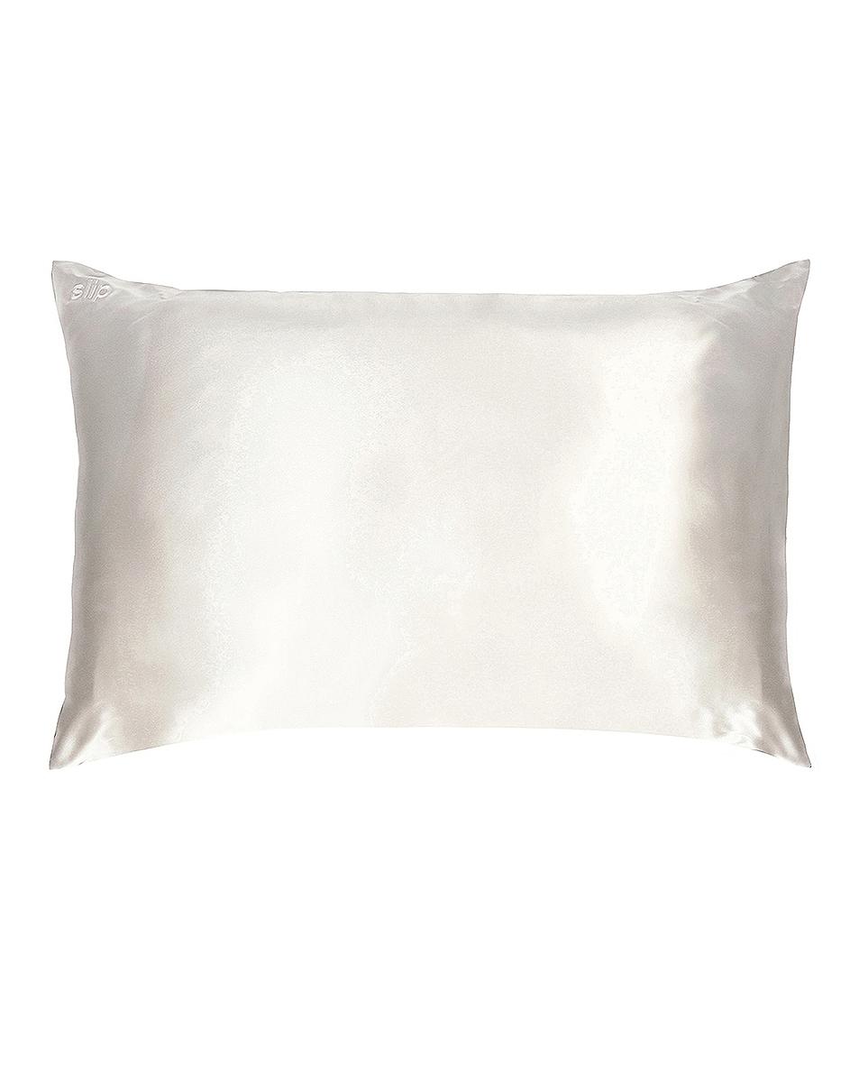 Image 1 of slip Queen/Standard Pure Silk Pillowcase in White