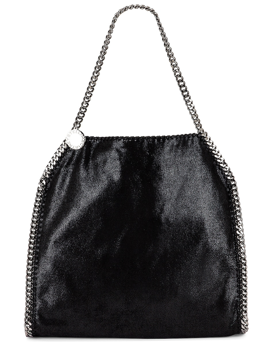 Image 1 of Stella McCartney Small Falabella Shaggy Deer Tote in Black