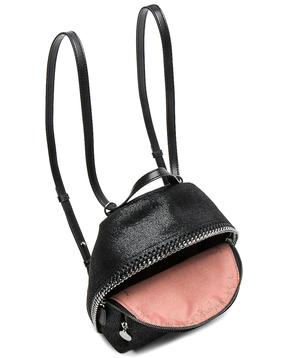 Image 5 of Stella McCartney Falabella Mini Backpack in Black