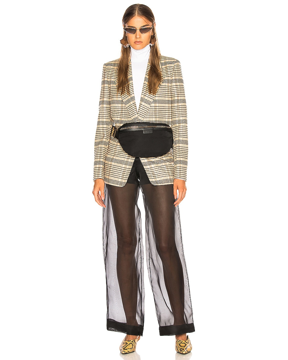 Image 2 of Stella McCartney Falabella Go Nylon Belt Bag in Black